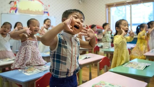 Children in class in Pyongyang, North Korea. Picture: Carl Court/Getty Images