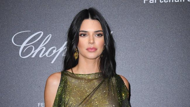 8a3eaca9fb5 Kendall Jenner  nude  dress  Model walks Cannes red carpet in sheer ...
