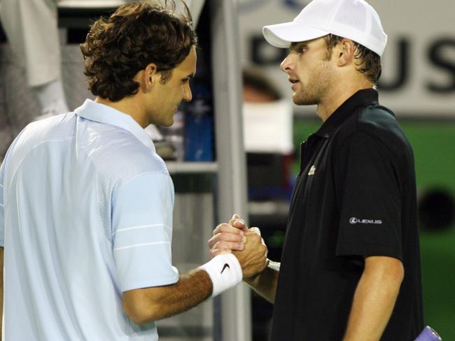 Roddick could never quite pip Federer when it mattered.