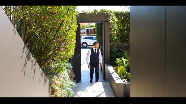Private entry. Source: Ray White Double Bay YouTube.