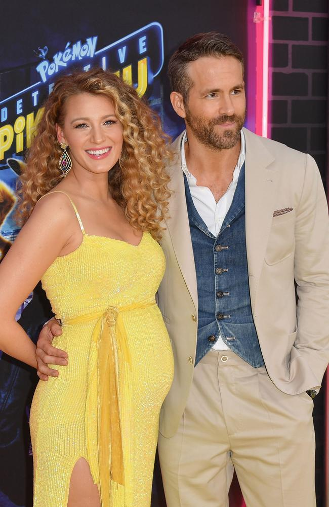 "Blake Lively and Ryan Reynolds at the premiere of ""Pokemon Detective Pikachu"". Picture: Angela Weiss / AFP"