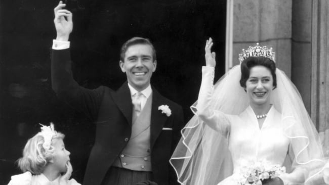 Tony Armstrong-Jones and Princess Margaret at their wedding. Photo: File/Ap