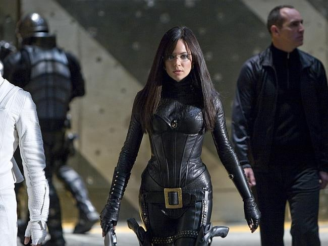 Sienna Miller stars as the evil Baroness in a scene from GI Joe: The Rise of Cobra.