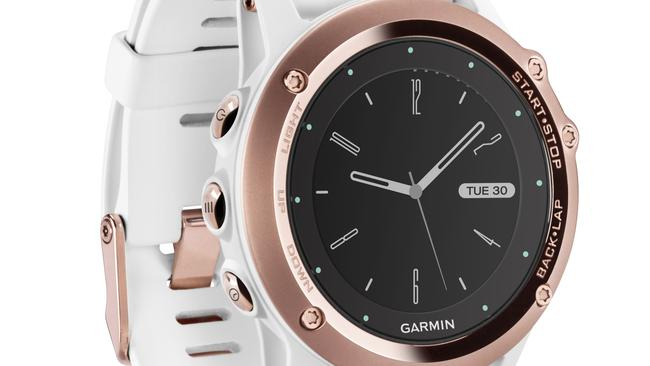 Rose gold everything ... Garmin issued its Fēnix 3 Sapphire sports watch in rose gold this year.