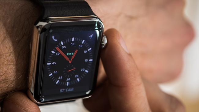 Apple's Watch 3 will feature a cellular connection and the new Frontier watch face will show its connection status. Picture: Jennifer Dudley-Nicholson