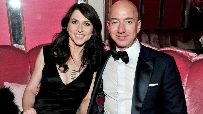 Jeff Bezos and his wife writer MacKenzie Bezos announced their divorce on Twitter last week. Picture: AP