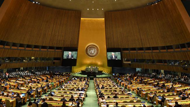 Theorists claim climate change is a United Nations-led hoax to aggressively depopulate the world and seize power from elected. Picture: AAP Image/Mick Tsikas