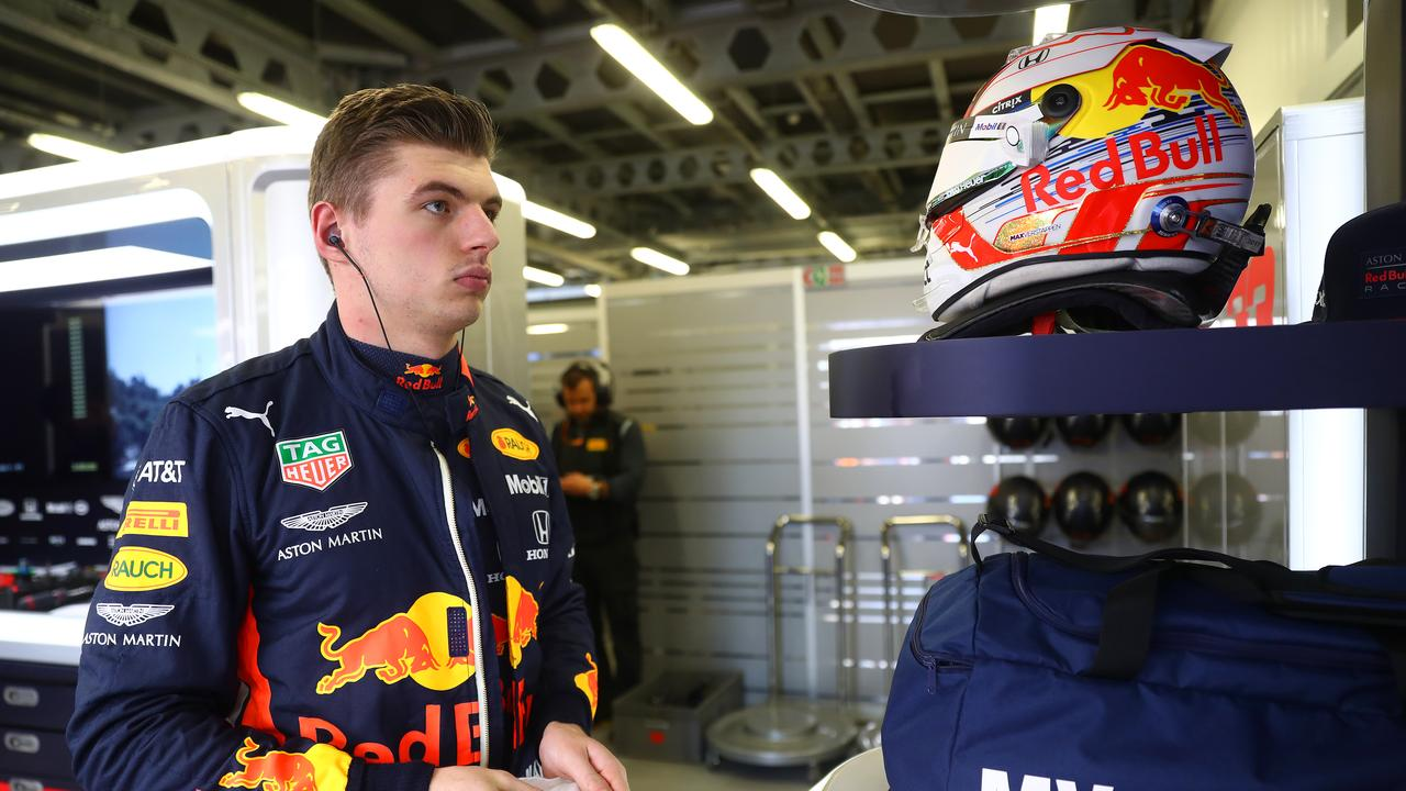 Max Verstappen was told to back off challenging for third place.