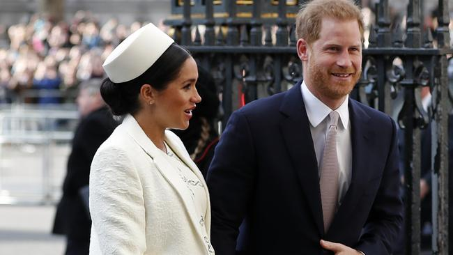 Meghan and Harry are officially parents. Picture: AP Photo/Frank Augstein