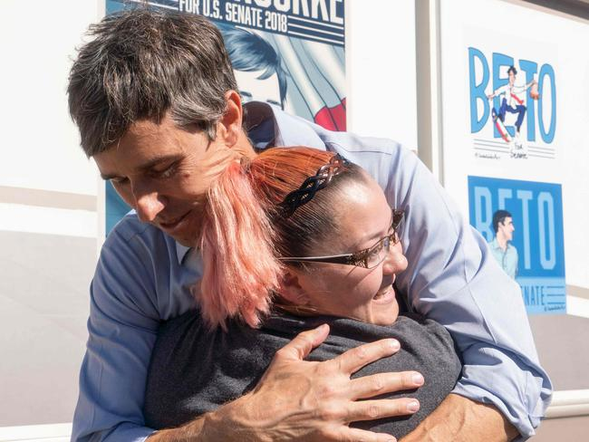 Beto O'Rourke has proved popular with young voters. Picture: AFP