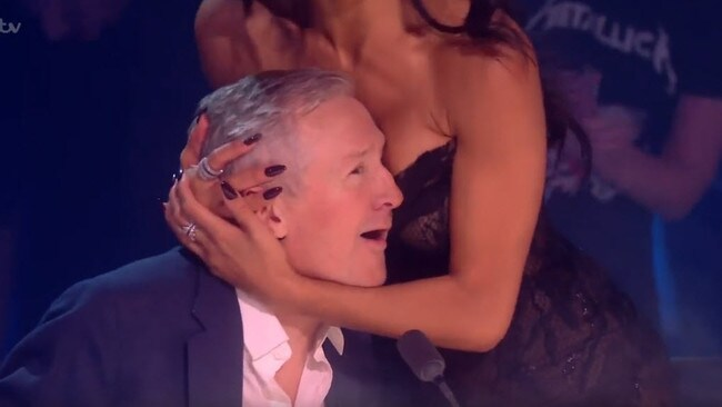 Louis Walsh cops an eyeful from Nicole. Picture: ITV