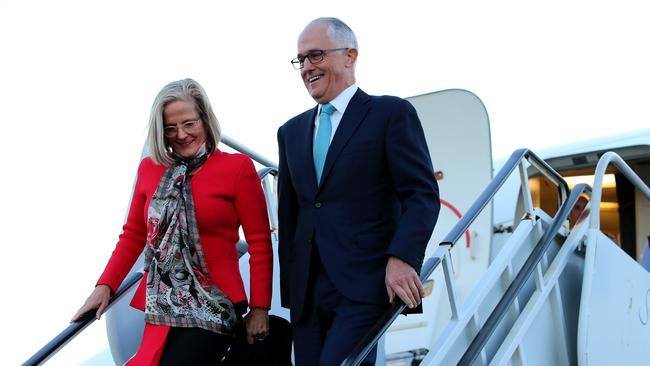 Prime Minister Malcolm Turnbull and his wife Lucy arrive in New York. He  was greeted