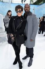 Kris Jenner and Corey Gamble attend the Chanel show as part of the Paris Fashion Week Womenswear Spring/Summer 2016 in Paris. Picture: Getty
