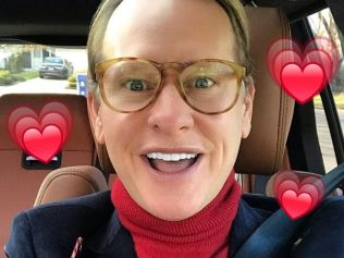 Carson makes for a pretty good cupid. Image: Instagram/@carsonkressley