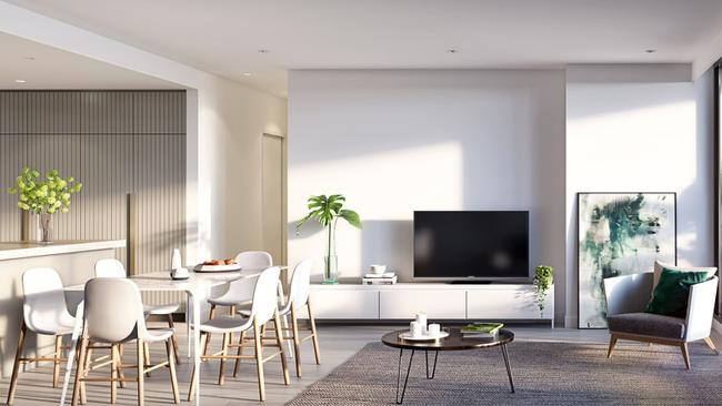 Inside one of the development's 368 planned apartments.