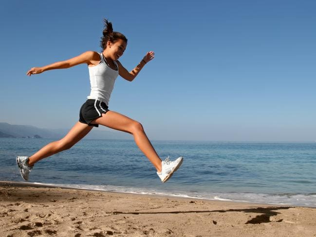 An early morning run on the beach sounds like the perfect way to start a work day.