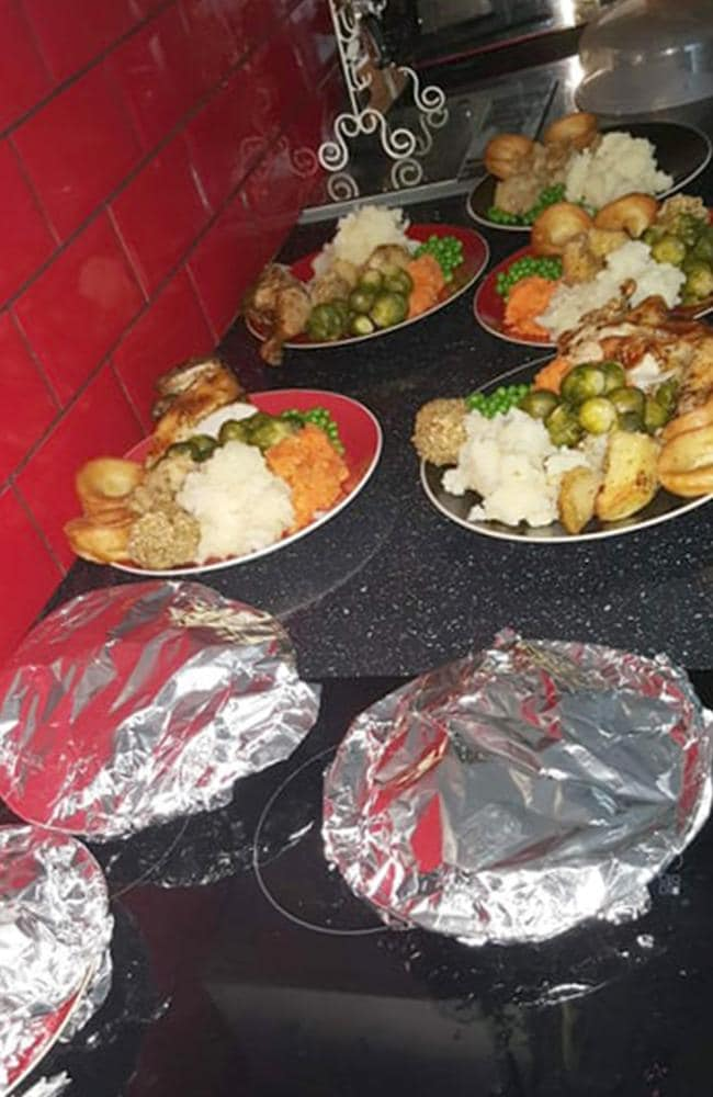 The meal is served in a buffet style. Picture: Caters News