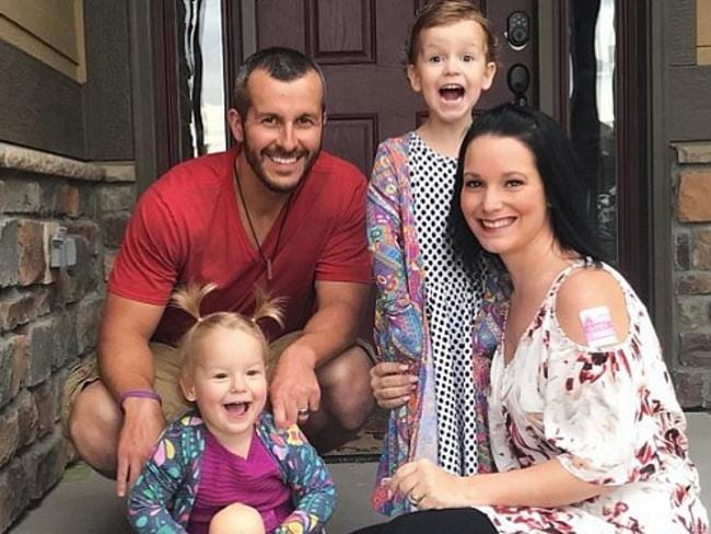 Picture-perfect family. Chris Watts with wife Shanann and daughters Bella, four, and Celeste, three. Picture: Instagram