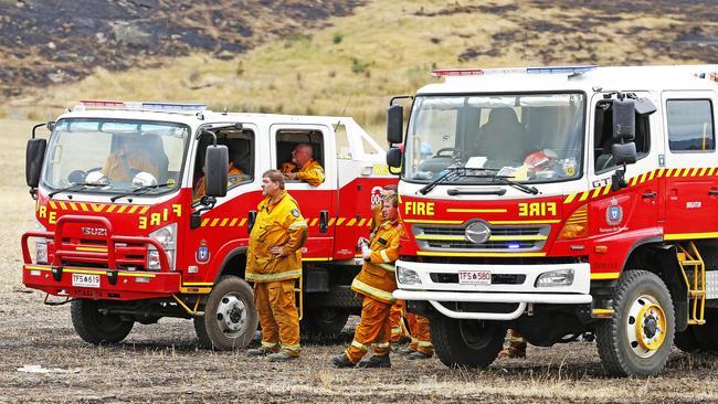 Firefighters in Pelham. Picture: ZAK SIMMONDS