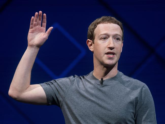 Facebook CEO Mark Zuckerberg. Picture: AP