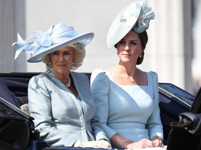 Camilla, Duchess of Cornwall and Catherine, Duchess of Cambridge arrived together. Photo: James Whatling / MEGA