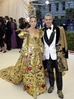 Sarah Jessica Parker, left and Andy Cohen attend the Heavenly Bodies: Fashion and The Catholic Imagination Costume Institute Gala at The Metropolitan Museum of Art on May 7, 2018 in New York City. Picture: AP