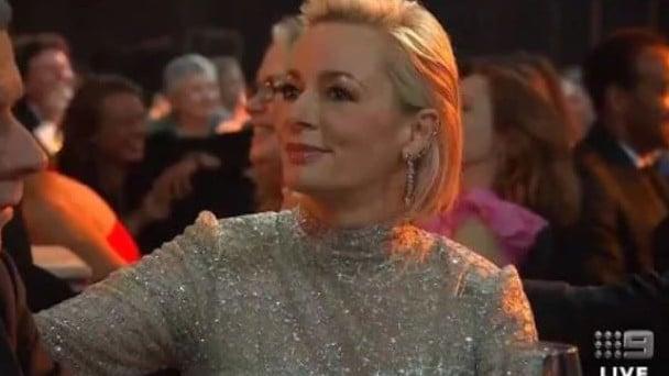 Amanda Keller's face said it all. Picture: Channel 9