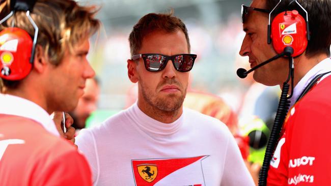 Sebastian Vettel at the Mexican GP.