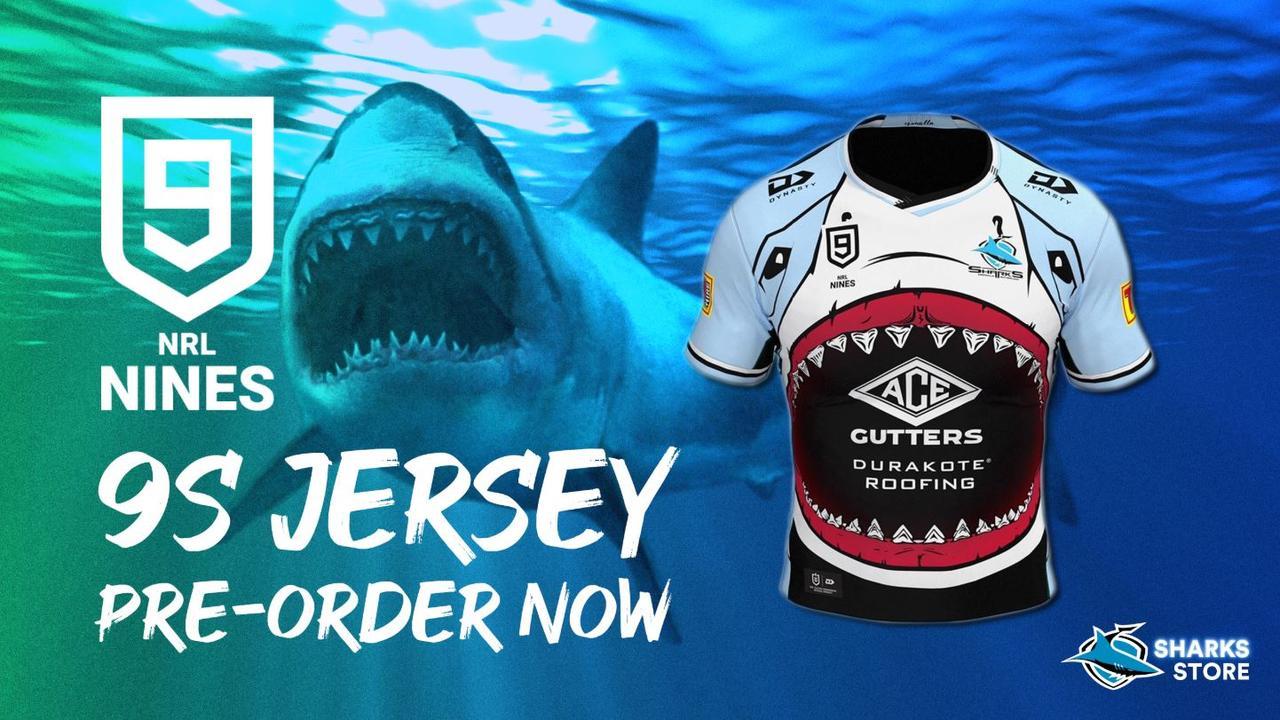 The Sharks' 2020 Nines jersey: rooooooaaaaarrr (do sharks roar?)