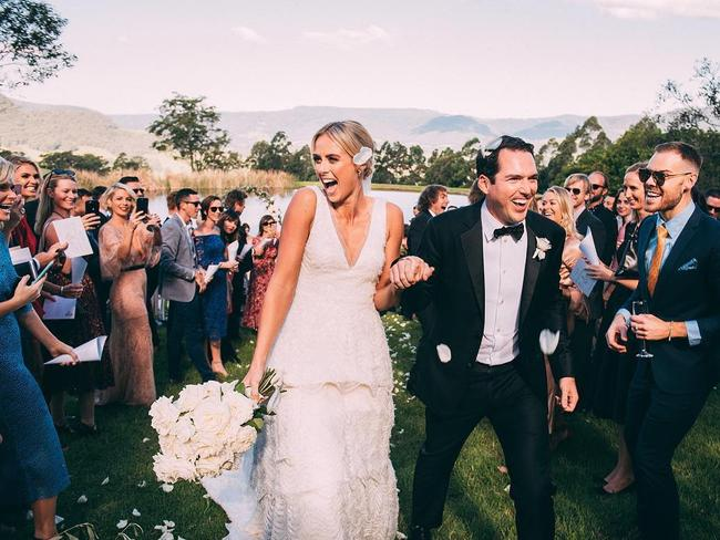 The wedding of Peter Stefanovic and Sylvia Jeffreys. Source: Instagram