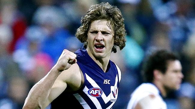 Fremantle's Nat Fyfe has taken his game to a new level in 2014. Picture: Wayne Ludbey