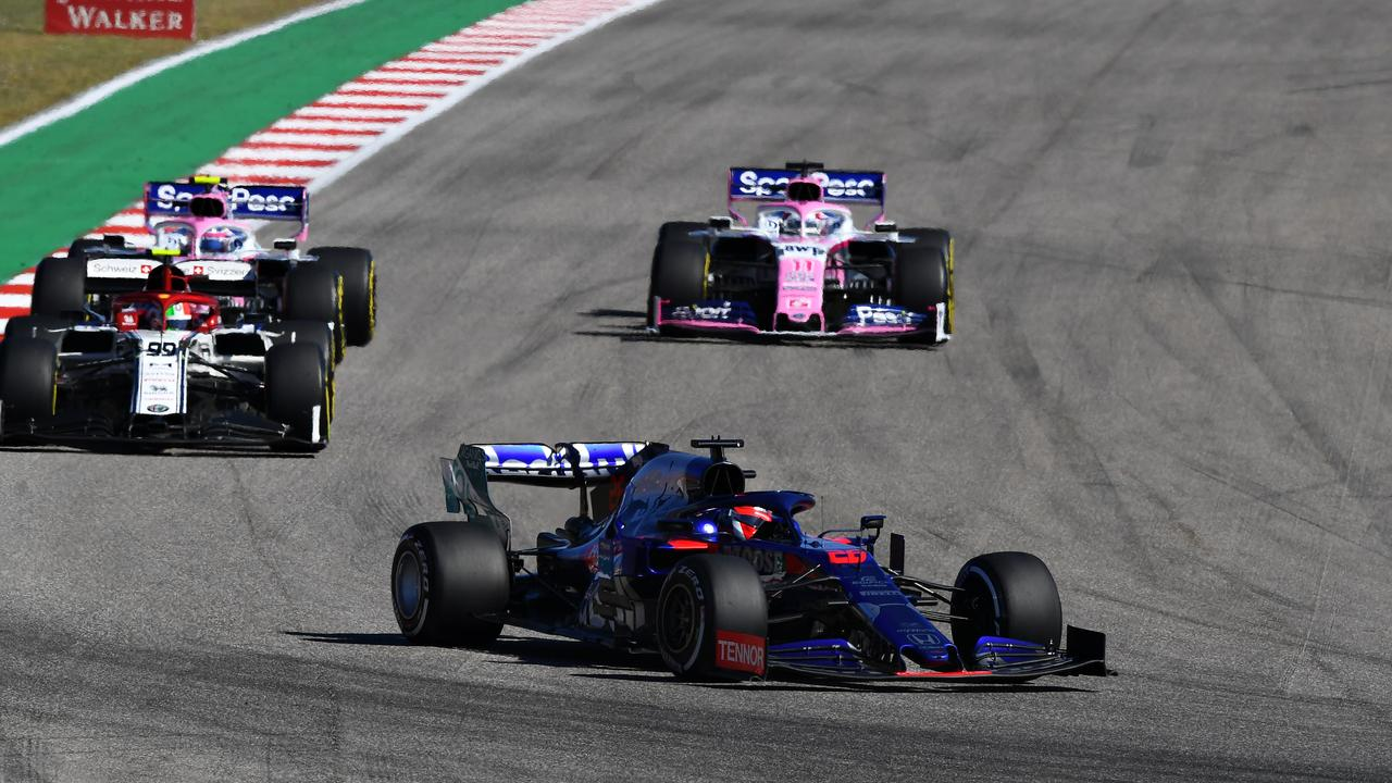 It was a midfield dogfight in Texas. Picture: Clive Mason