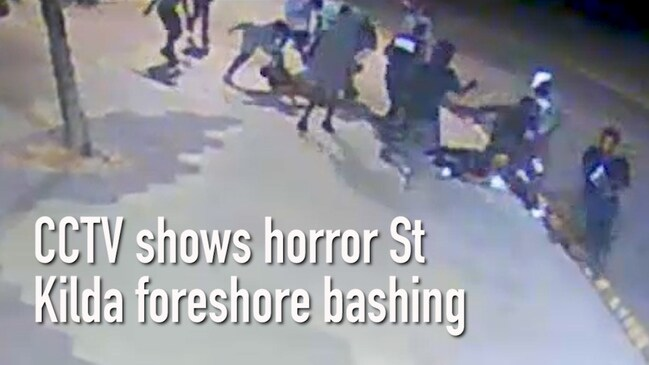 CCTV shows horror St Kilda foreshore bashing