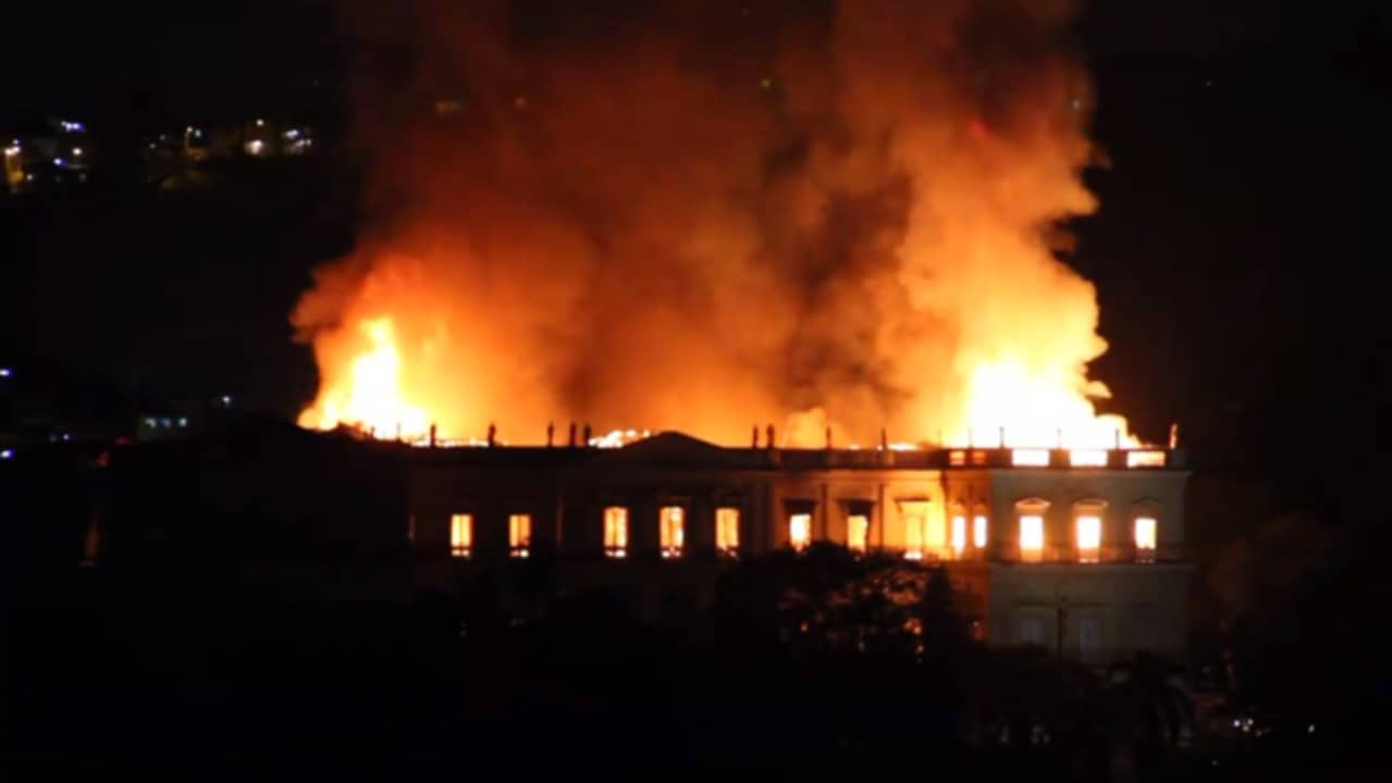 Fire Engulfs Brazil's 200-Year-Old National Museum
