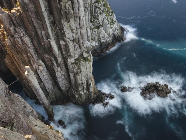 The enormous sea cliffs in Tasman National Park are sure to astound you. Picture: Pierre Destribats