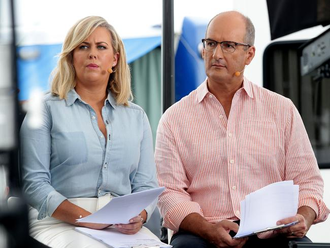 Channel 7's Sunrise hosts Samantha Armytage and David Koch.