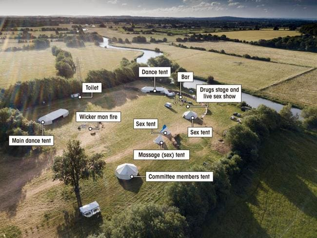 The layout of the party. Picture: Ian Whitaker/The Sun