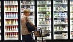 A customer pushes a shopping cart through the frozen food aisle inside a Kroger Co. grocery store in Louisville, Kentucky, U.S., on Wednesday, June 14, 2017. Kroger Co. is scheduled to release earnings on June 15. Photographer: Luke Sharrett/Bloomberg
