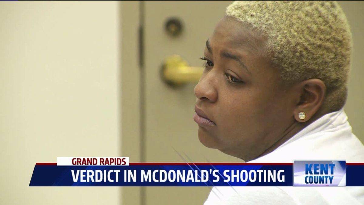 Woman convicted of shooting at a McDonald's because her burger had no bacon