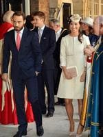Pippa and James Middleton leave the Chapel Royal. Picture: AFP