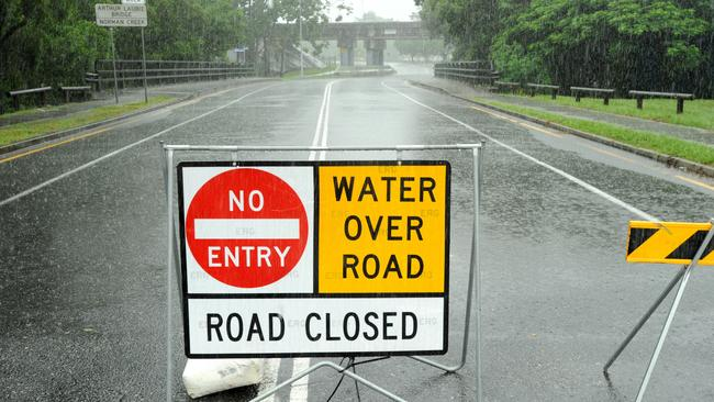 Queensland road closures due to flooding from Cyclone Marcia