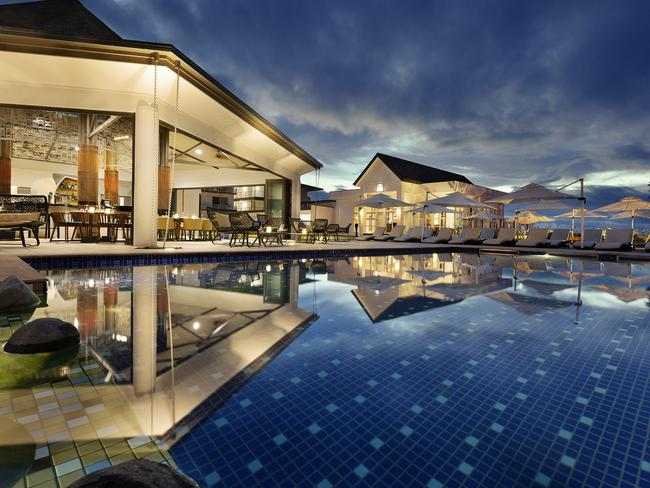 The Pullman Nadi Bay has a luxe pool before you hit the beachfront.