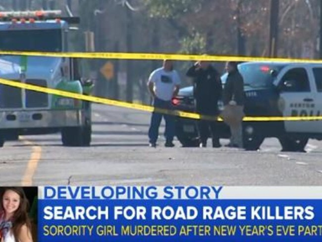Police are hunting the shooter after the fatal road rage incident.