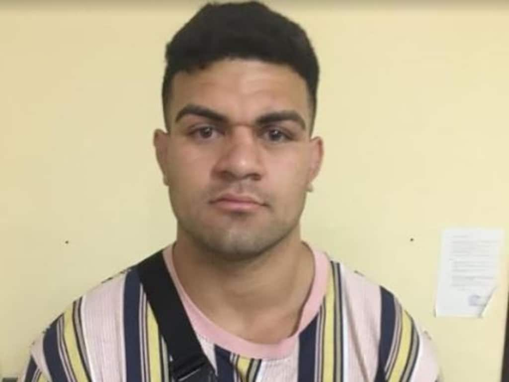 NEWS360 ONLY. NO AUSTRALIAN NO NEWS.COM.AU.  Broncos player David Fifita in Bali police custody after being detained for allegedly assaulting a security guard outside La Favela nightclub in Bali. Picture: Supplied