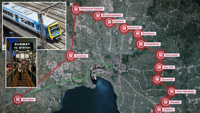 Suburban rail loop Melbourne: New plans for underground line to airport