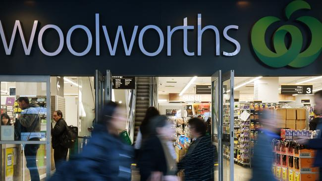 Woolworths topped the own-brand list with a rating of 3.2, followed by Coles with an average of 3.0 in the FoodSwitch: The State of the Food Supply report. Picture: AAP Image/Dean Lewins.