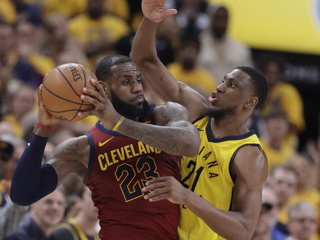 LeBron was powerless to halt the Pacers' charge.