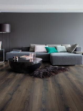 Dark and handsome: a Majestic laminate floor by Quick-Step. Picture: Quick-Step