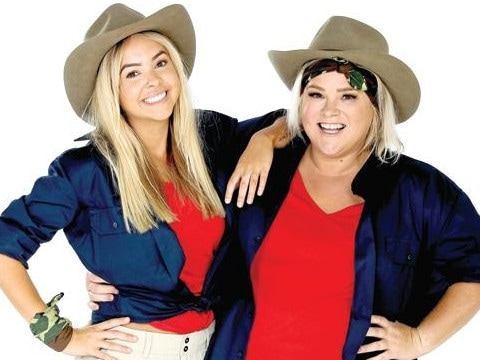 The pair parlayed their Gogglebox fame into a stint in the jungle. Picture: Channel 10.