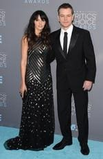 Luciana Barroso and Matt Damon attend the 21st Annual Critics' Choice Awards on January 17, 2016 in California. Picture: Getty